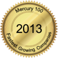 Mercury 100 Fastest Growing Companies award 2013
