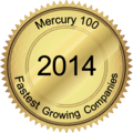 Mercury 100 Fastest Growing Companies award 2014