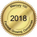 Mercury 100 Fastest Growing Companies award 2018