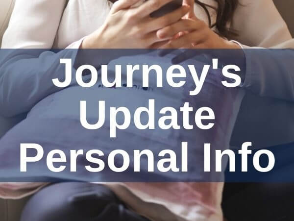 Journey's Update Personal Info