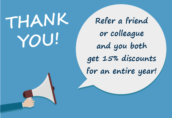 Thank you referral receive 15 off