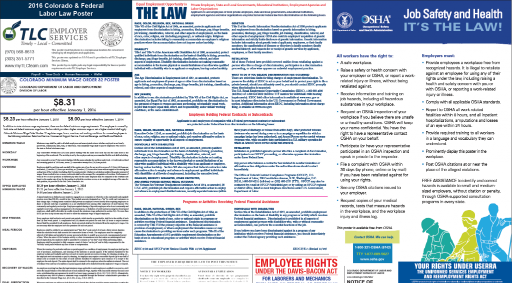Top of Labor Law Poster