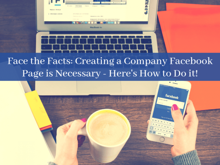Creating a company facebook page. cover image