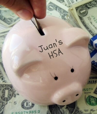 Juan contributing a pre-tax deduction to his HSA