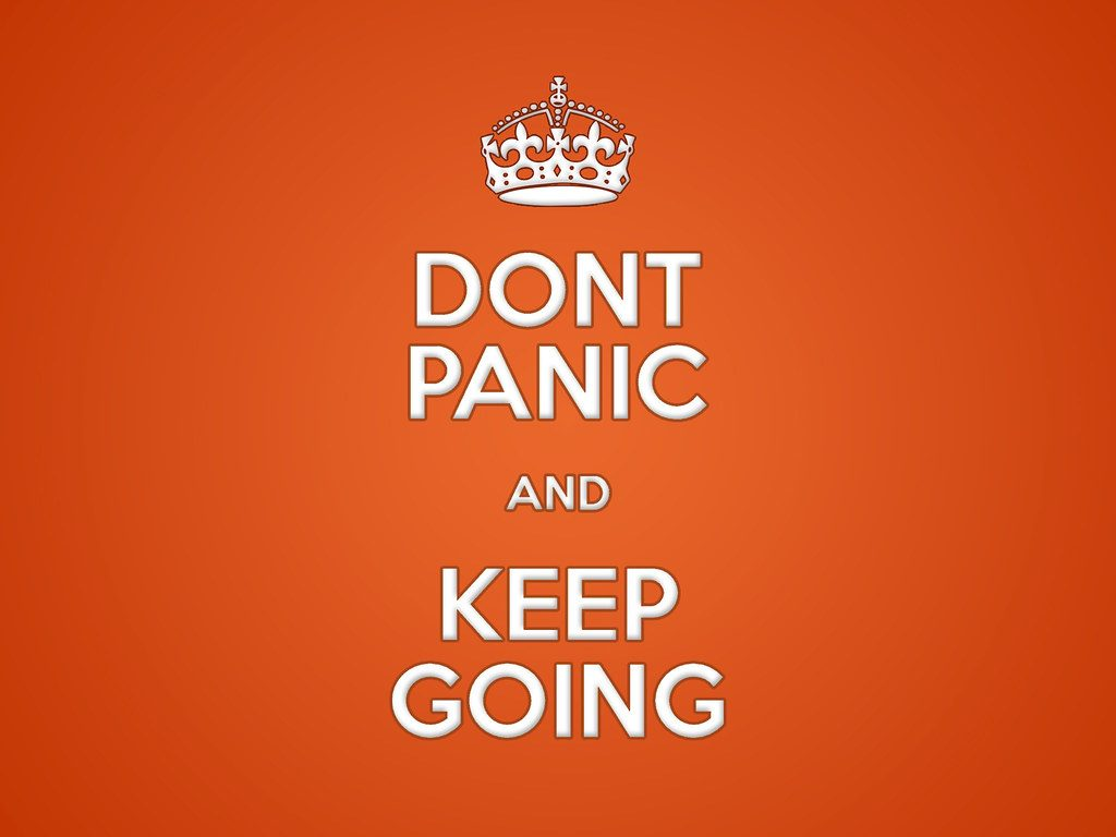 Don't Panic and Keep Going poster