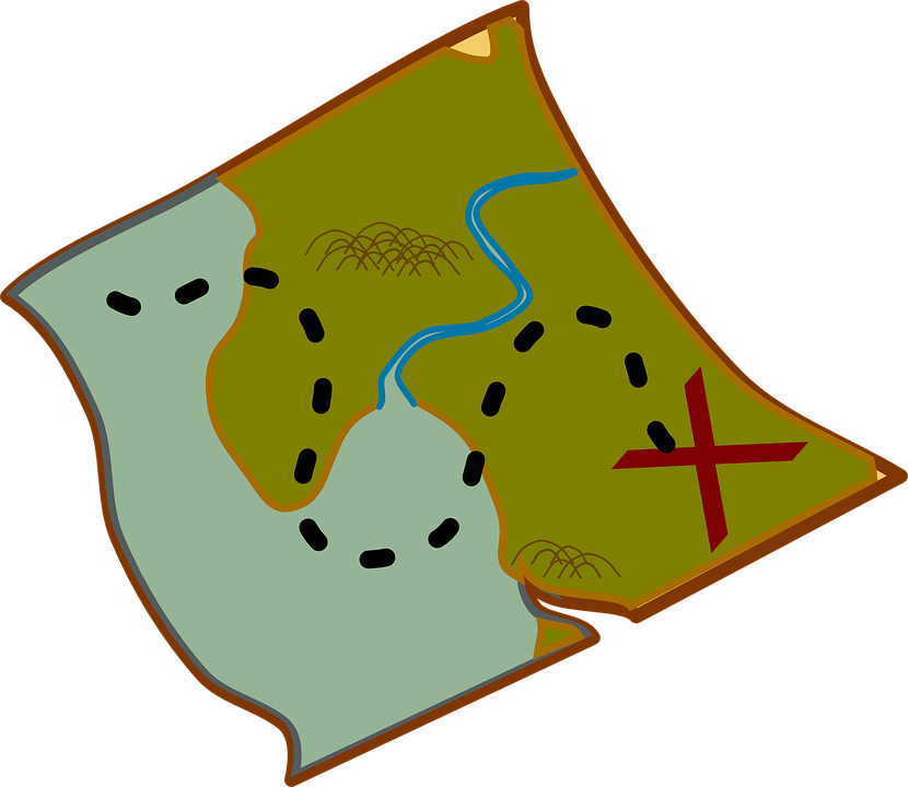 Map with X marks the spot