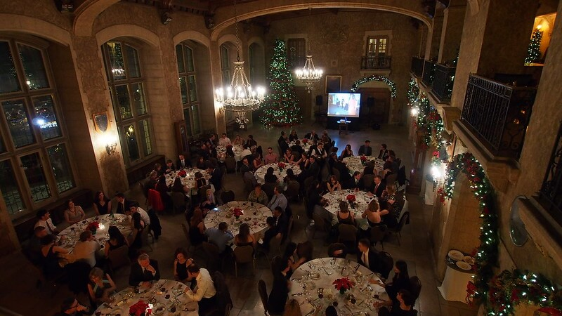 Image of a company holiday party for employees.
