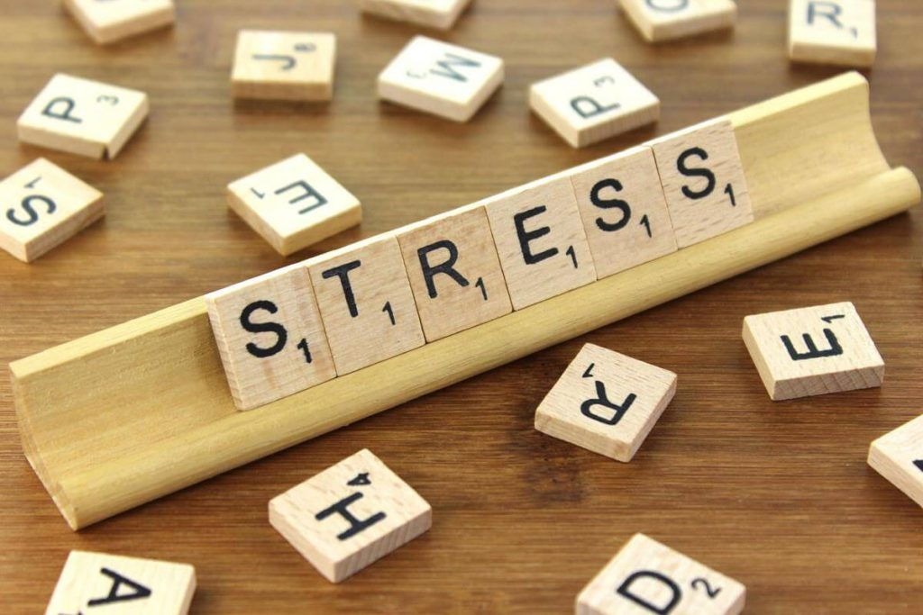 """Photo of Scrabble pieces with the word """"STRESS,"""" indicating that the thought of transitioning can be stressful."""