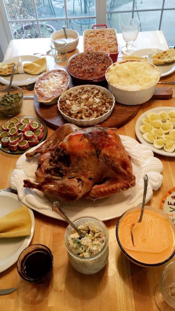 Photo of a Thanksgiving meal.