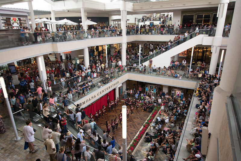 Image of the mall on Black Friday, the day after Thanksgiving.