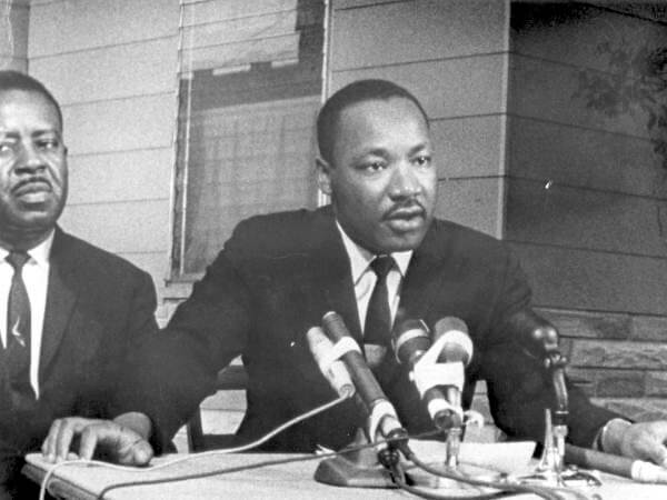 Martin Luther King Jr. and Ralph Abernathy in St. Augustine, Florida.