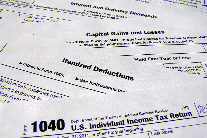 Image of the form used for itemize deductions, as was used for claiming mileage using the standard mileage rates.