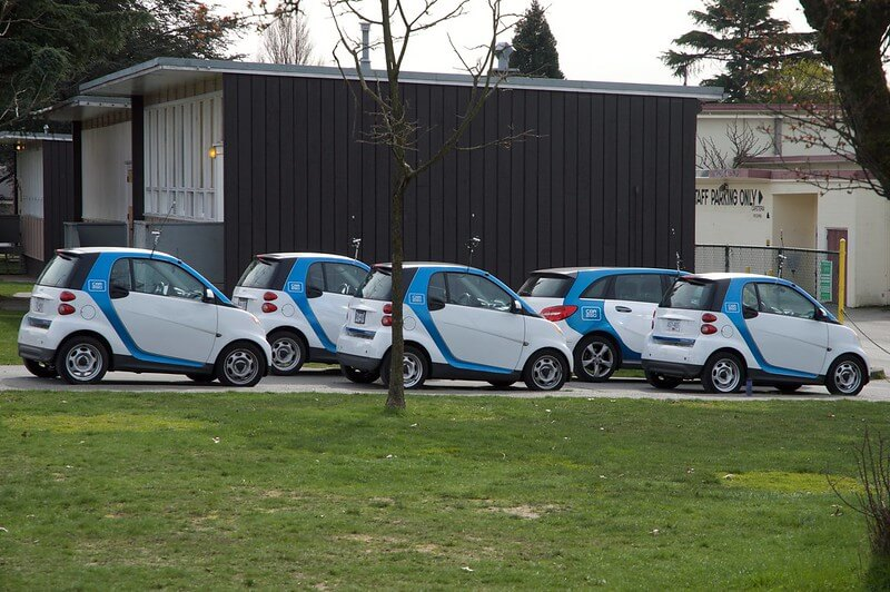 Photo of a fleet of vehicles, which is restricted from using the standard mileage rate.