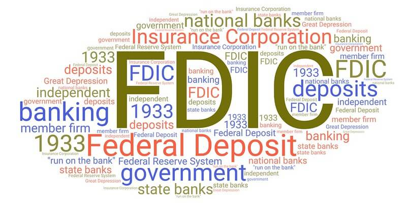 Image of a word cloud with FDIC in the center.