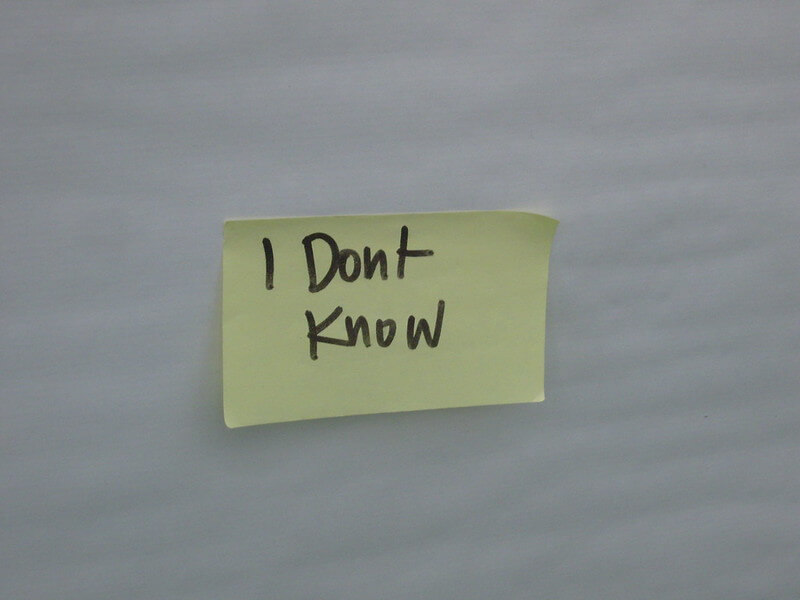 "Photo of a post-it note with the words ""I Don't Know,"" meaning someone doesn't know how to avoid payroll mistakes."