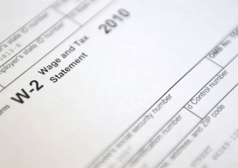 Image of a W-2 form, which is a common payroll mistake when employers give a 1099 instead.