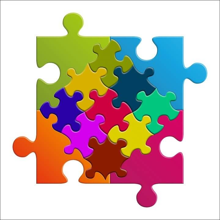 Image of colorful puzzle pieces.