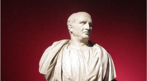 Image of a bust of Cicero.
