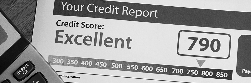 The cover page of a credit report