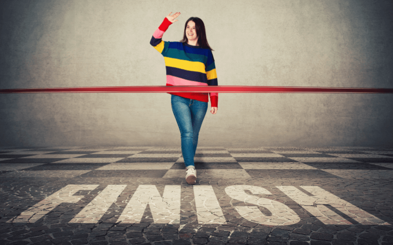 new years resolutions for businesses crossing finish line