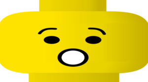 """Image of a yellow LEGO head making an """"oops"""" face, like he has tax issues."""