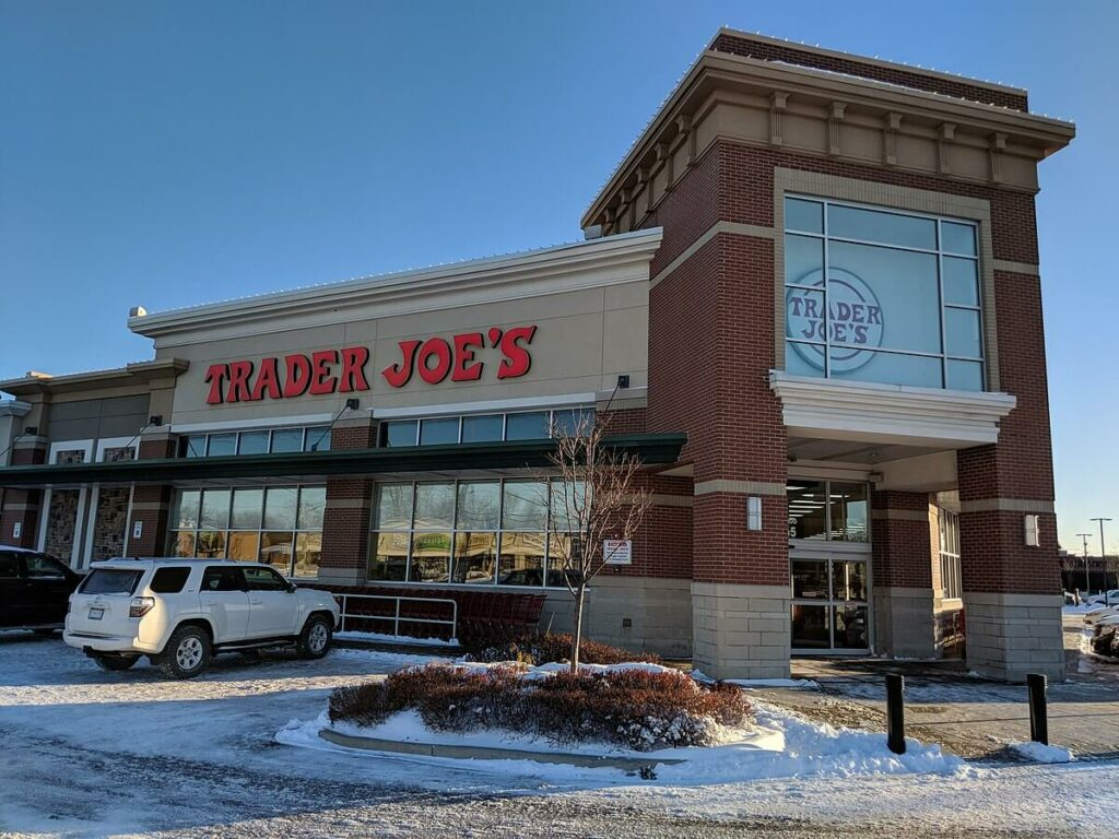Photo of a Trader Joe's store, known for having great employee relations.