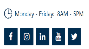 Image of how to use social media marketing with social media icons on a website.