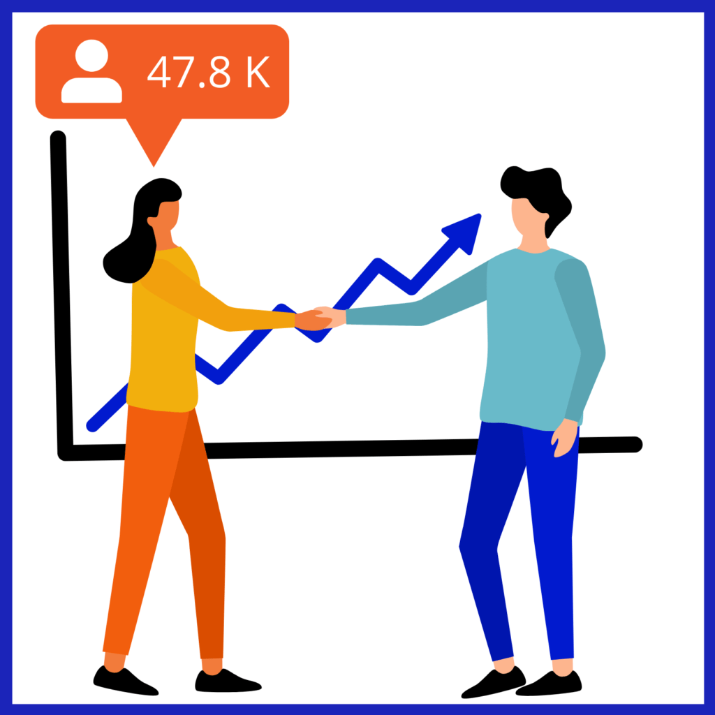 Social media for businesses includes building partnerships with influencers.