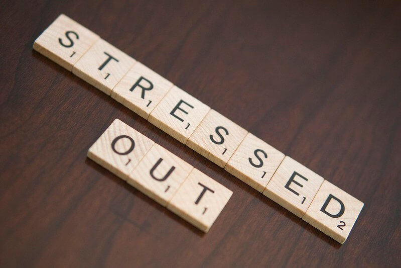 Image of blocks with the words STRESSED OUT.